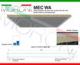 Panel acústico MEC WA - Ficha técnica