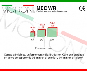 Panel lana de roca MEC WR - Ficha técnica