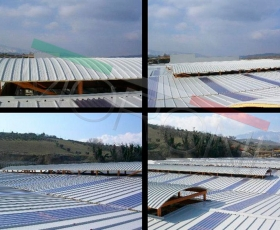 Construcción con panel de cubierta PENTA