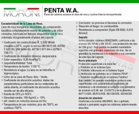 Ficha técnica Panel de Cubierta Acústica PENTA WA - Espesor 100