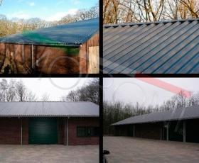 Construcción con panel de cubierta OMEGA