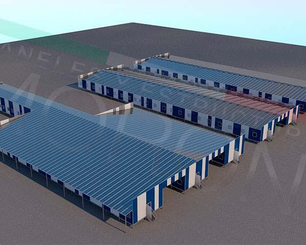 Construcción con paneles prefabricados en chile - Campamento Modular