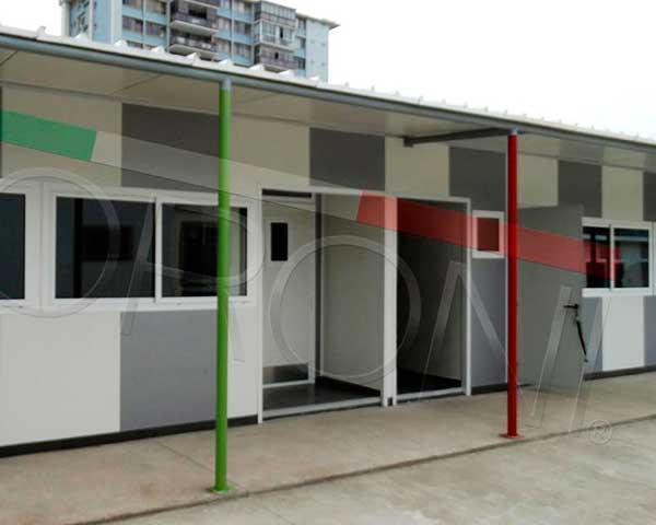 Construcción con paneles prefabricados en chile - Salas de clases modulares