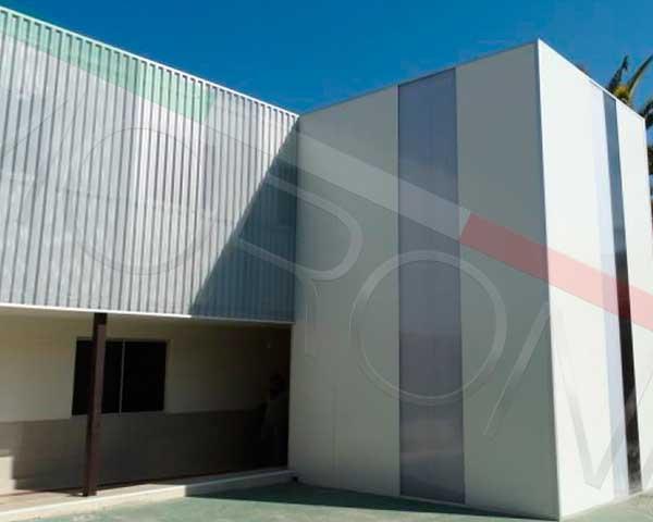 Construcción con paneles prefabricados en chile - Revestimiento Arquitectonico