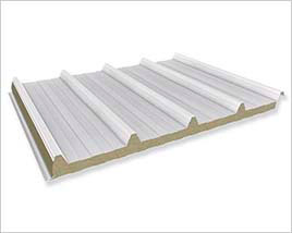 construccion con paneles prefabricados en chile - Panel de cubierta Lana de Roca
