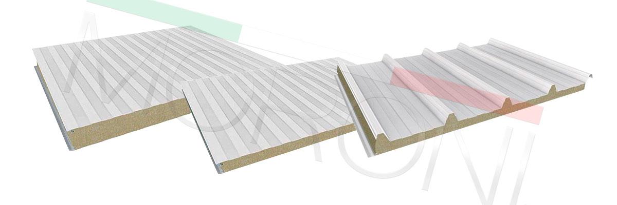 paneles aislados en lana de roca cortafuegos