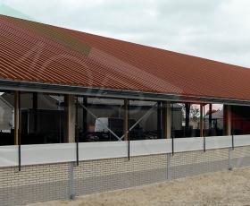 Construcción con cubierta Omega