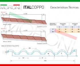 Panel de cubierta Italcoppo - Ficha técnica