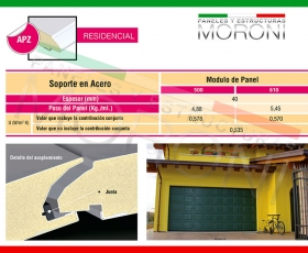 Panel arquitectonico APZ Cassetato - Ficha Técnica