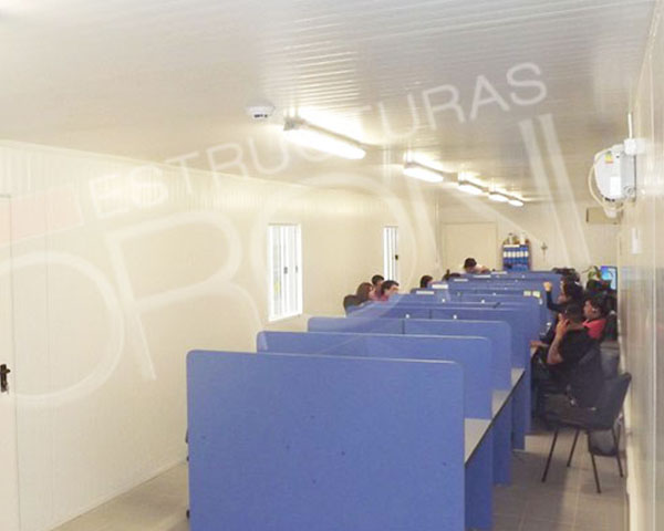 Soluciones Modulares - Sala de capacitacion modular