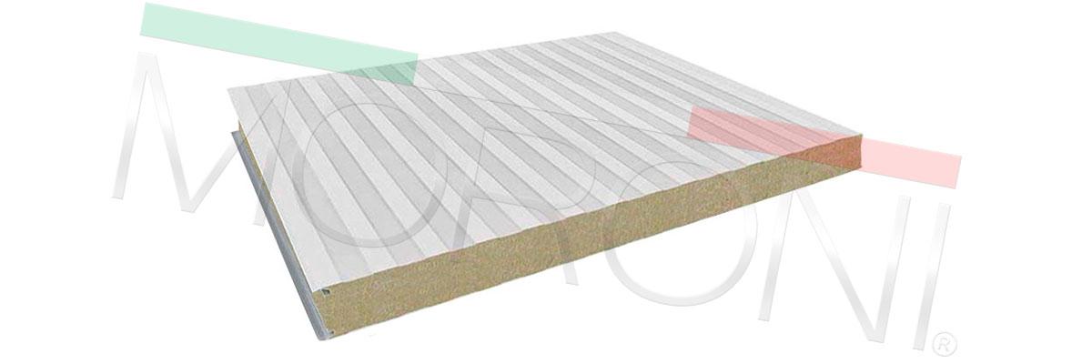 Panel lana de roca MEC WR Espesor 100mm