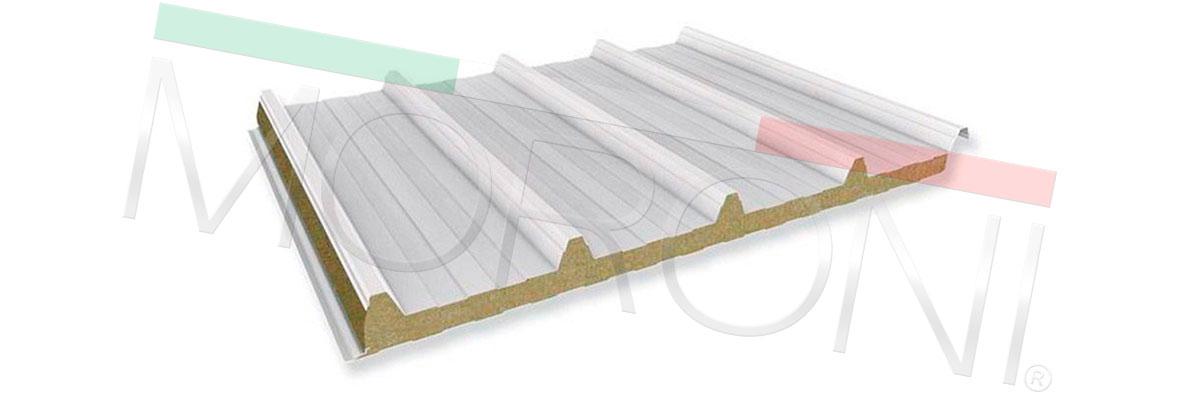 panel de cubierta acero prepintado lana de roca