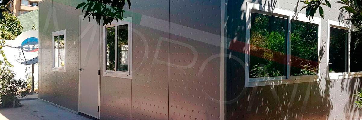 oficinas modulares con paneles arquitectonicos