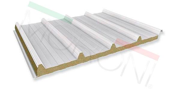 Paneles aislantes en stock - Cubierta lana de roca PENTA WR