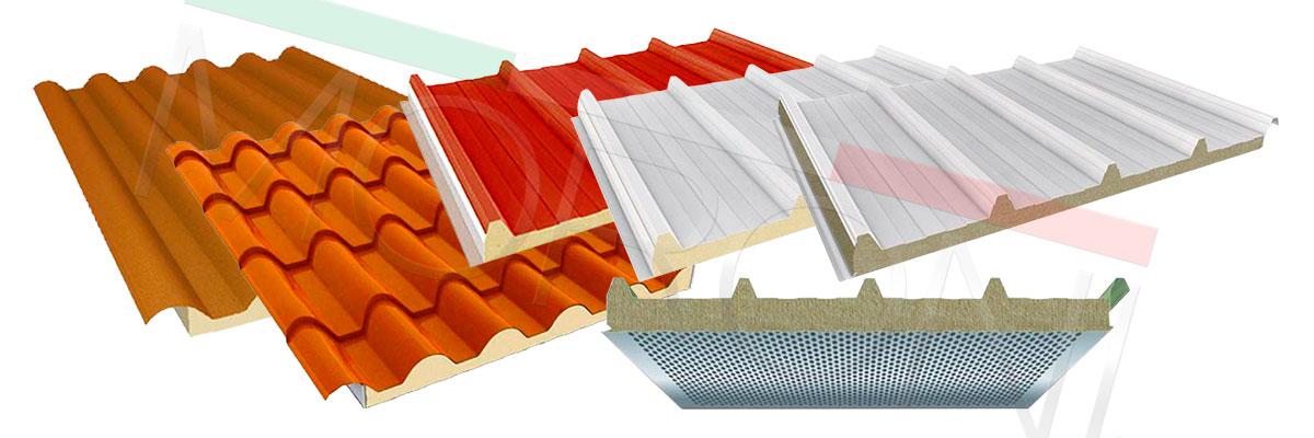 paneles de techo cubierta aislada